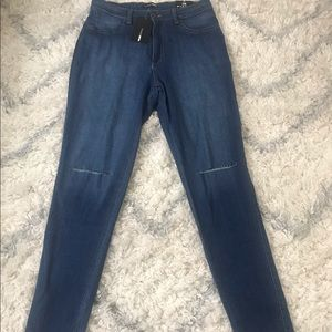 Distressed Mid-wash Jeans
